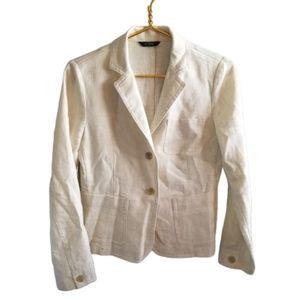    J CREW FACTORY    Ivory/Cream Blazer Jacket